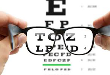 image of eye examination